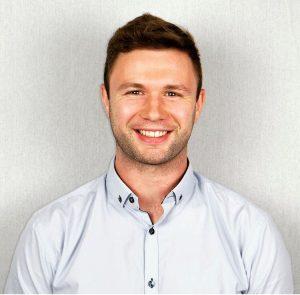 Headshot of Joe O'Brien (Trainee Health Psychologist) with a white background
